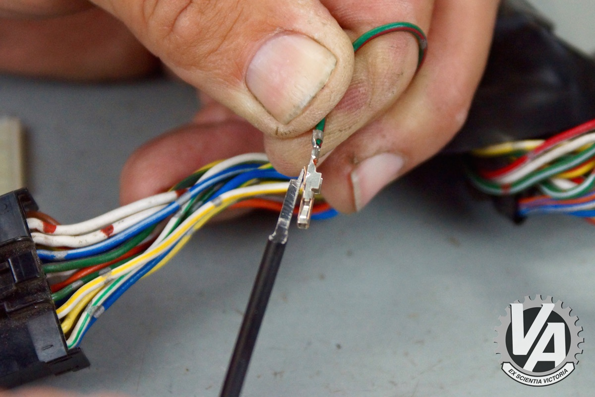 How To Remove Metal Pins From Wire Harness 42 Wiring Diagram Removing Wires 185ver30 Ecu Pin Removal Guide Vtec Academy